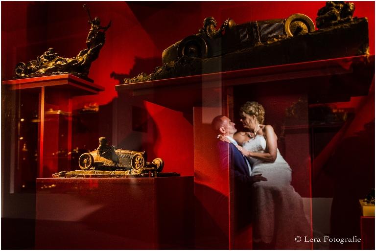 bruidsreportage bij museum Louwman