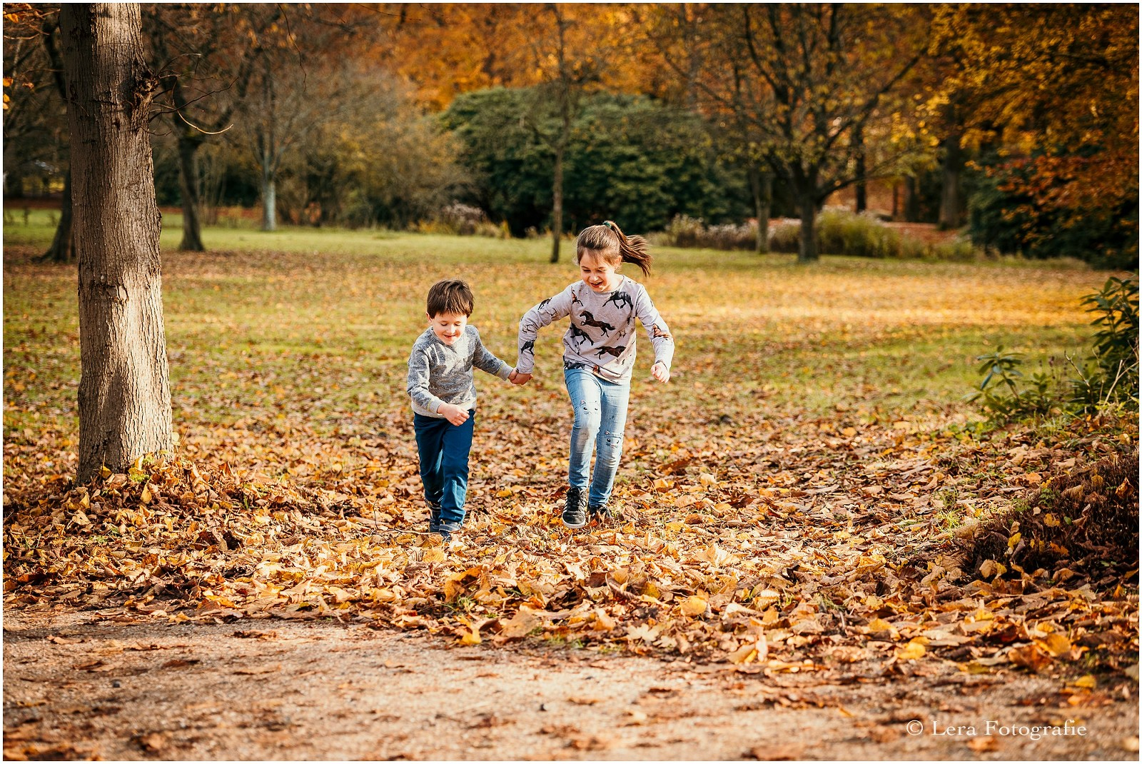 Gezinnen fotograferen in de herfst